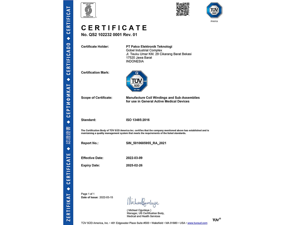 ISO 13485 : 2016